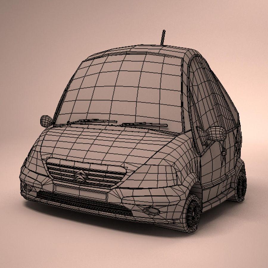 Carro Citroen C3 Toon royalty-free 3d model - Preview no. 18