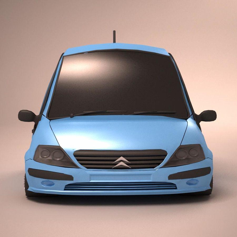 Carro Citroen C3 Toon royalty-free 3d model - Preview no. 9