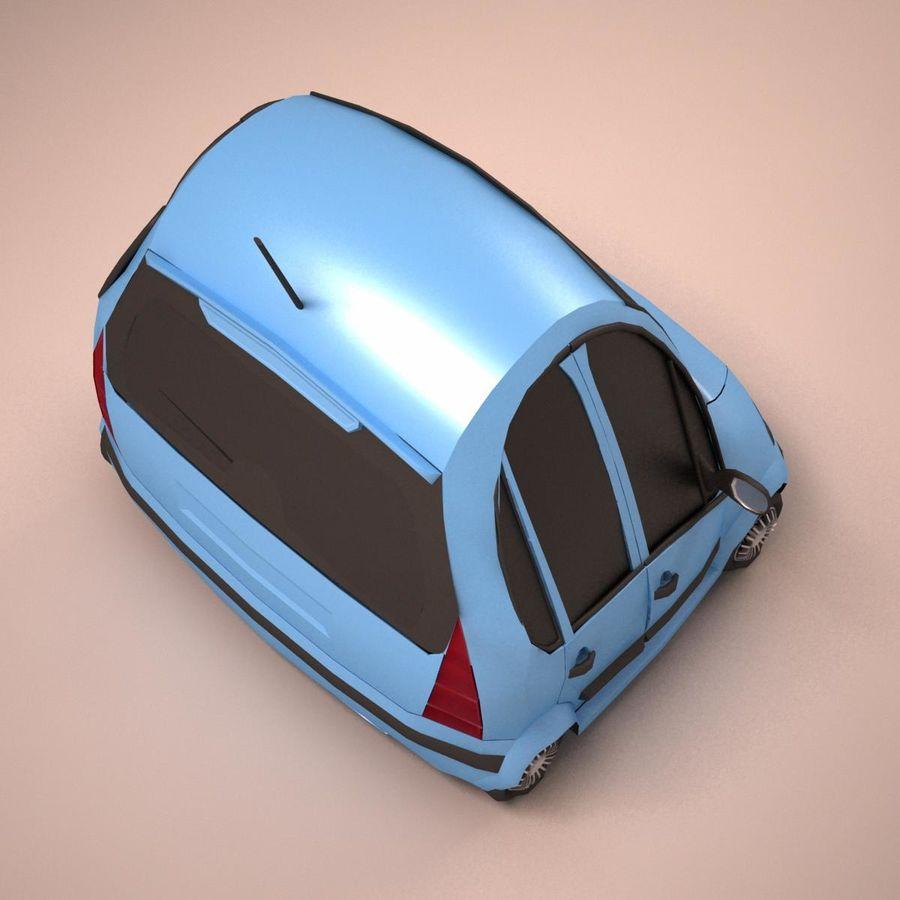 Carro Citroen C3 Toon royalty-free 3d model - Preview no. 11