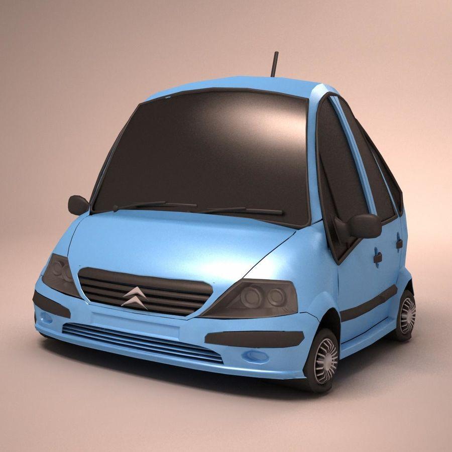 Carro Citroen C3 Toon royalty-free 3d model - Preview no. 8