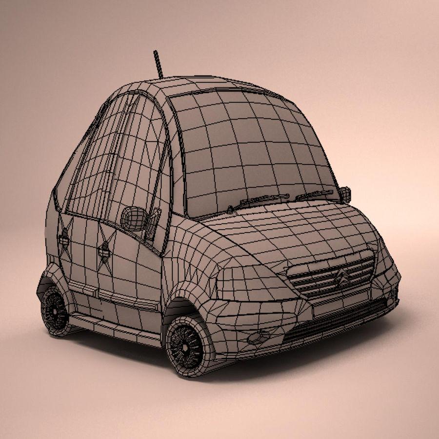 Carro Citroen C3 Toon royalty-free 3d model - Preview no. 13