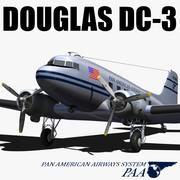 더글러스 DC-3 다코타 3d model