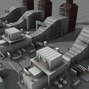 Unità di raffineria 9 3d model