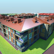 Residential Area 3d model