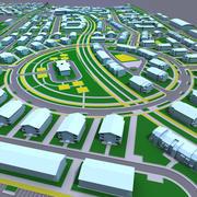 Woonwijk kaart 3d model