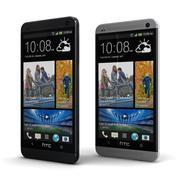 HTC One 2013 noir et argent 3d model