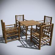 Bamboo Furniture 3d model
