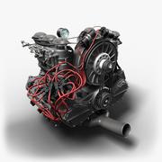 Flat 6 Engine 3d model