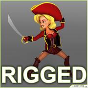 Pirate Cartoon Cartoon Rigged 3d model