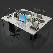 책상 액세서리 3d model