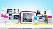 Sanal TV Stüdyo Seti 3d model