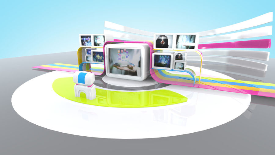 Sanal TV Stüdyo Seti royalty-free 3d model - Preview no. 4