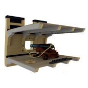 Пушка и оружейная палуба 3d model