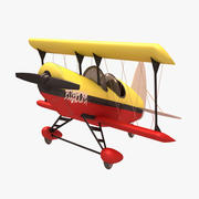 곡예 툰 비행기 3d model