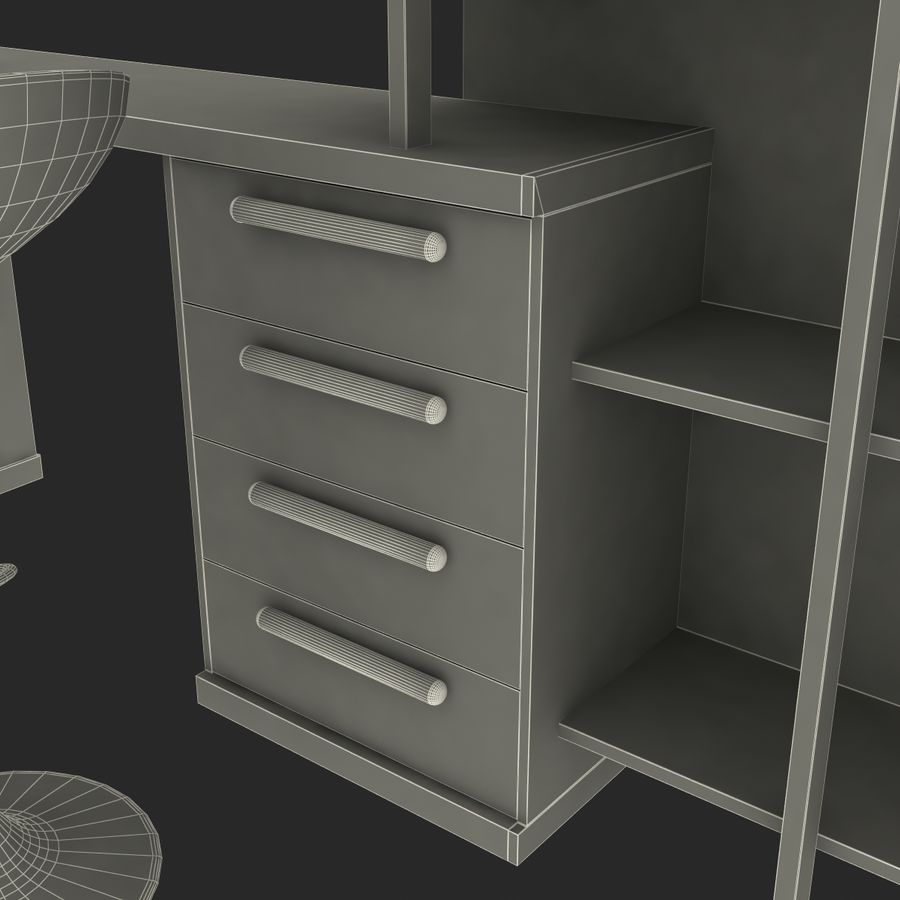 Kids Bedroom Furniture royalty-free 3d model - Preview no. 23