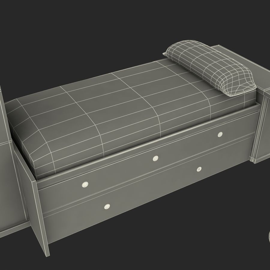 Kids Bedroom Furniture royalty-free 3d model - Preview no. 22