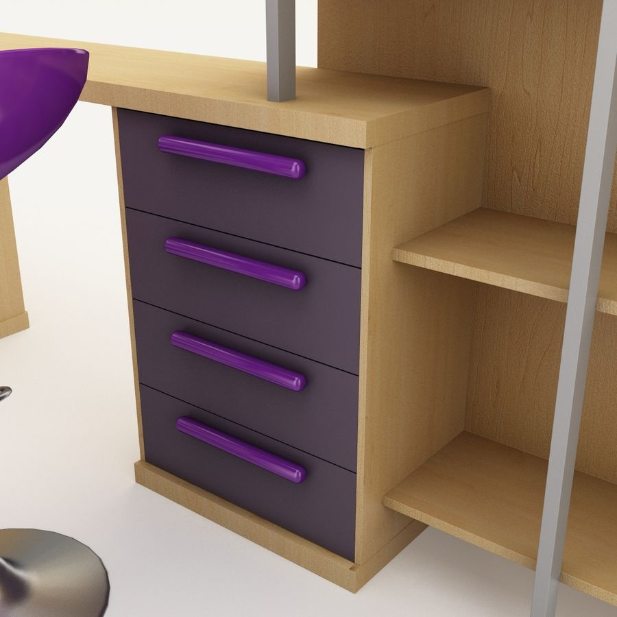 Kids Bedroom Furniture royalty-free 3d model - Preview no. 11