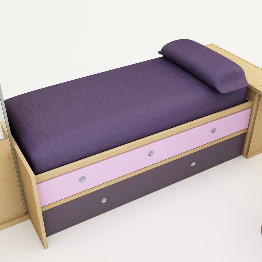 Kids Bedroom Furniture royalty-free 3d model - Preview no. 10
