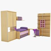 Kids Bedroom Furniture 3d model