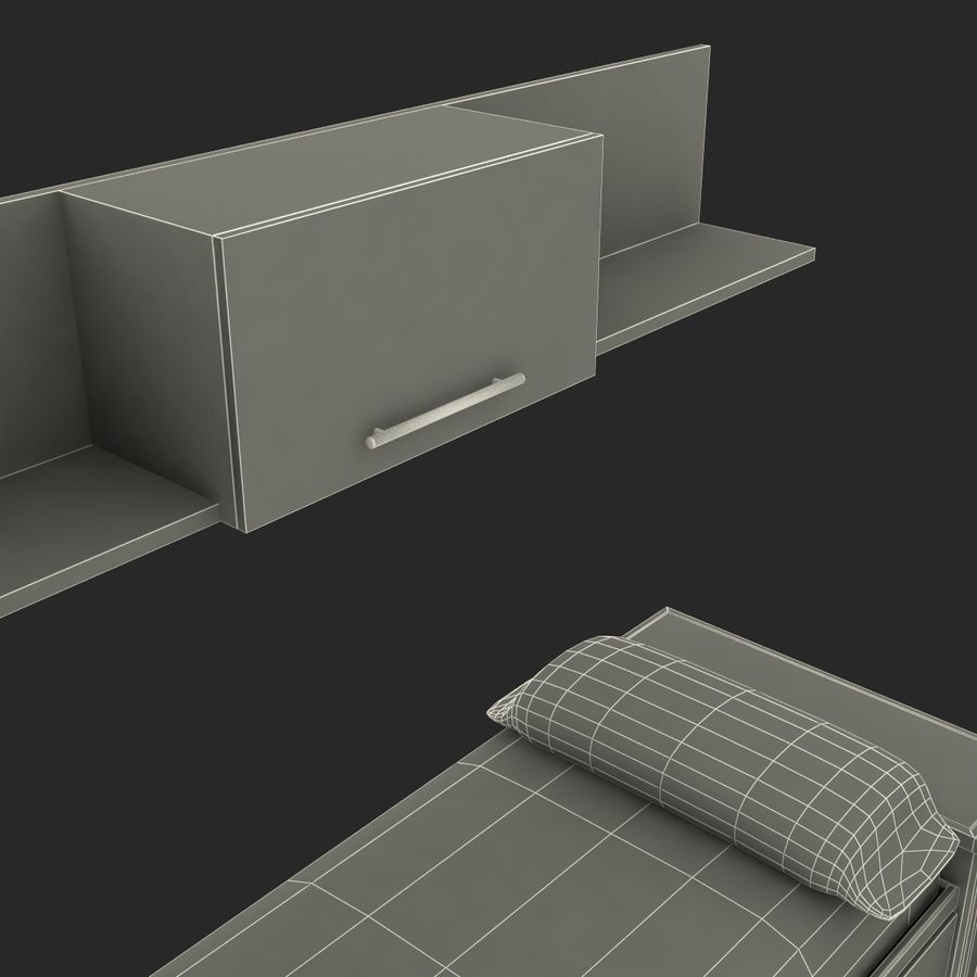 Kids Bedroom Furniture royalty-free 3d model - Preview no. 25