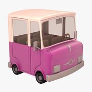 仿古卡通卡车01 3d model
