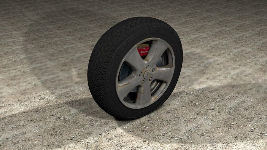 Generic Car Tire royalty-free 3d model - Preview no. 1