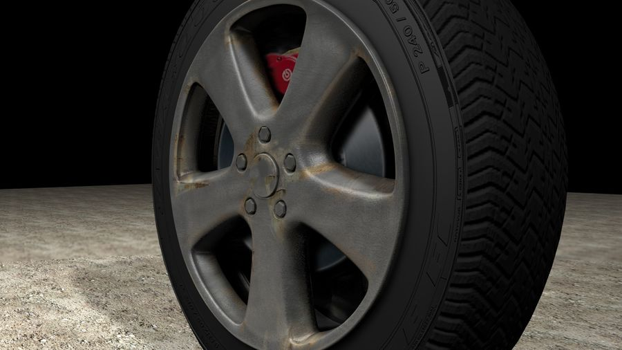 Generic Car Tire royalty-free 3d model - Preview no. 5
