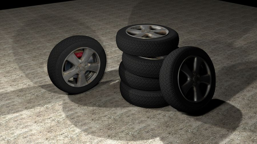 Generic Car Tire royalty-free 3d model - Preview no. 6
