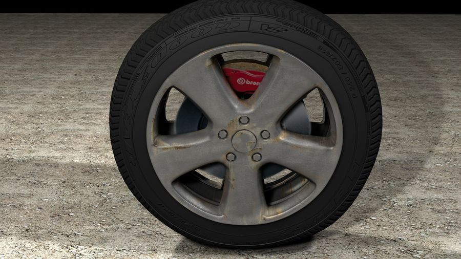 Generic Car Tire royalty-free 3d model - Preview no. 7
