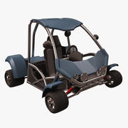 马车卡通车 3d model