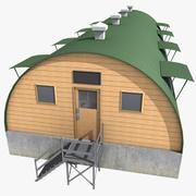 Quonset Barrack 3d model
