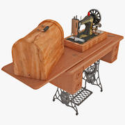 Antyczny zestaw maszyn do szycia Singer 3d model
