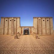 Egipska Świątynia Faraona 3d model