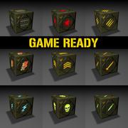 太空板条箱-游戏准备就绪 3d model