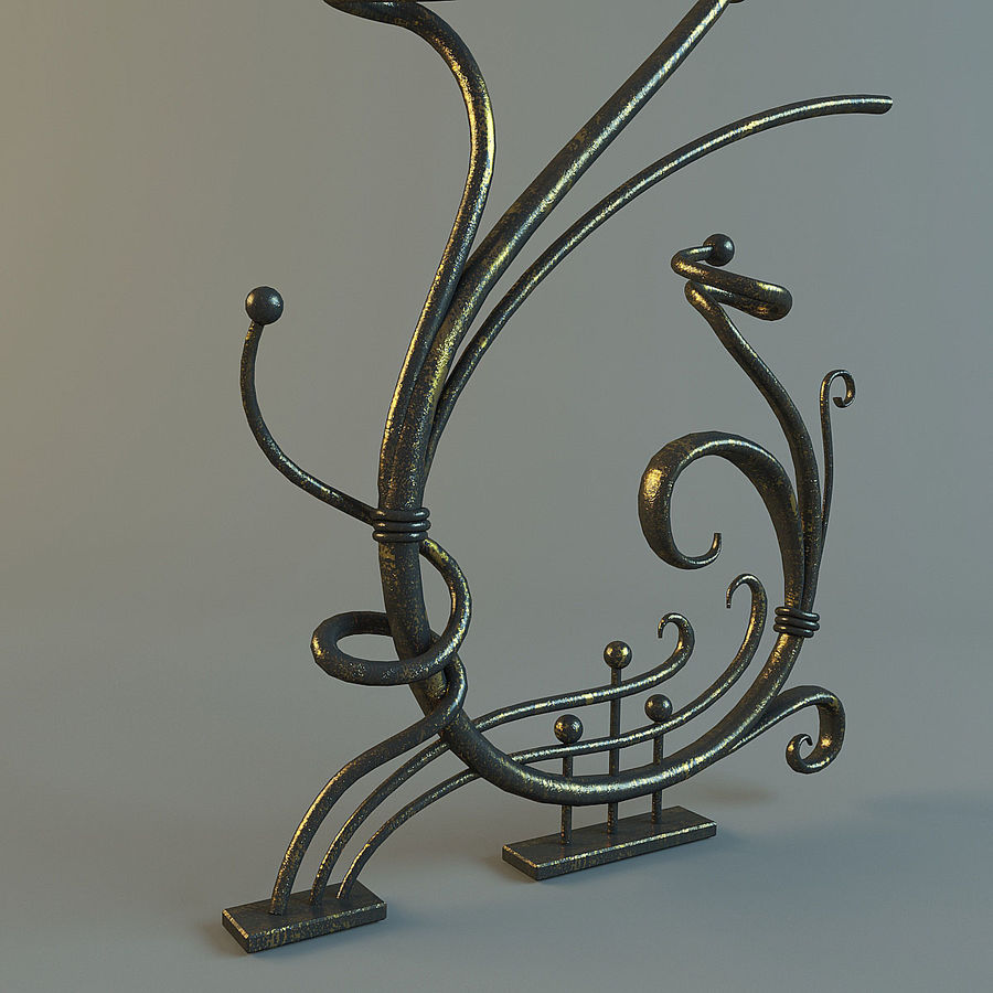 Dövme Dekoratif Eleman royalty-free 3d model - Preview no. 5