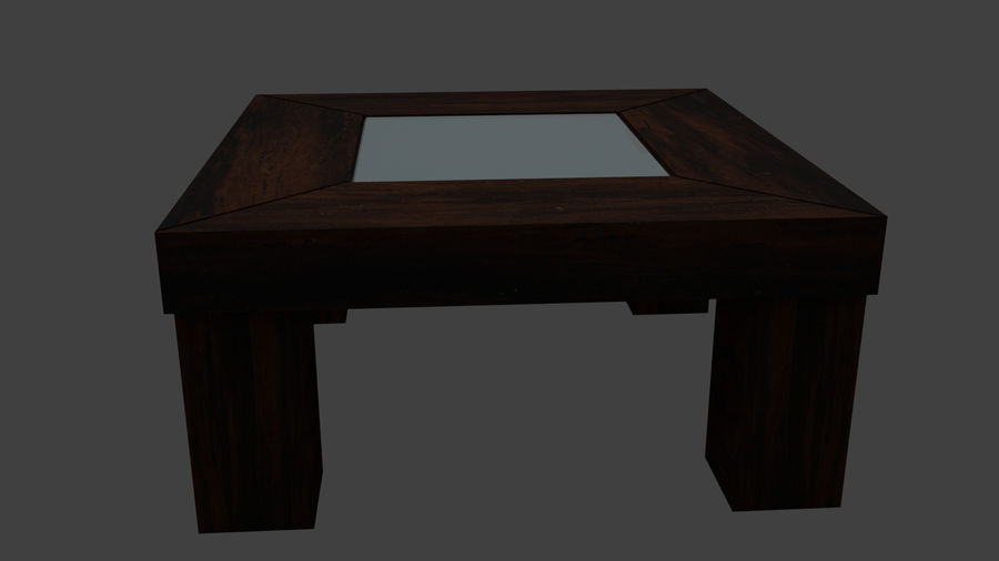 Vardagsrumsbord royalty-free 3d model - Preview no. 3
