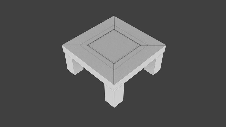 Vardagsrumsbord royalty-free 3d model - Preview no. 4