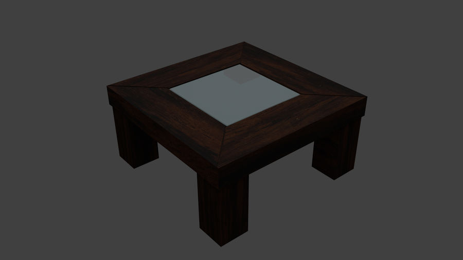 Vardagsrumsbord royalty-free 3d model - Preview no. 1