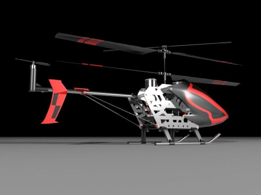 helikopter zdalnie sterowany royalty-free 3d model - Preview no. 2