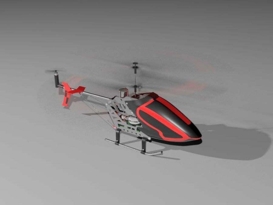 helikopter zdalnie sterowany royalty-free 3d model - Preview no. 6