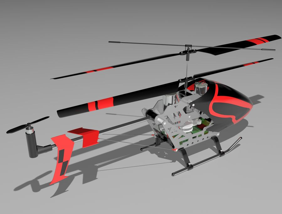 helikopter zdalnie sterowany royalty-free 3d model - Preview no. 7