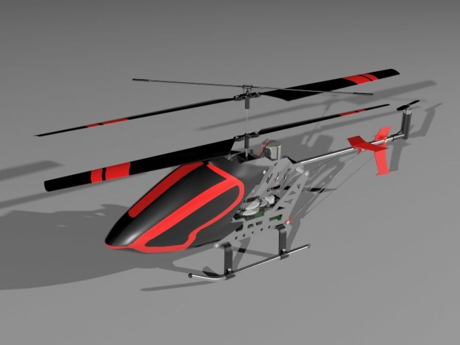 helikopter zdalnie sterowany royalty-free 3d model - Preview no. 1