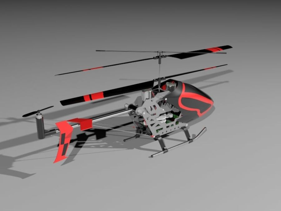 helikopter zdalnie sterowany royalty-free 3d model - Preview no. 3