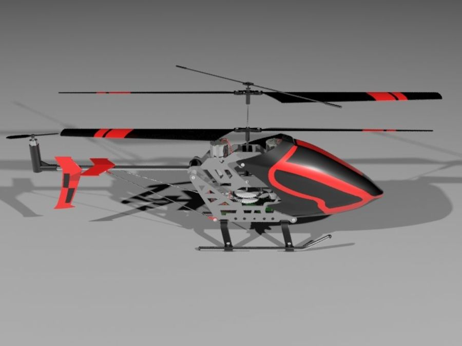 helikopter zdalnie sterowany royalty-free 3d model - Preview no. 4