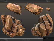 Conjunto de roca modular modelo 3d