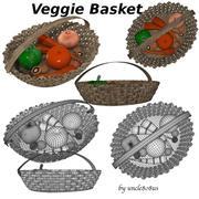 Cesta de vegetais 3d model