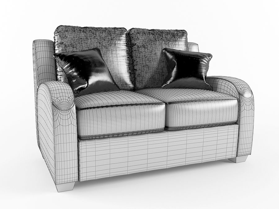 Ashley Furniture-Circa Taupe royalty-free 3d model - Preview no. 5