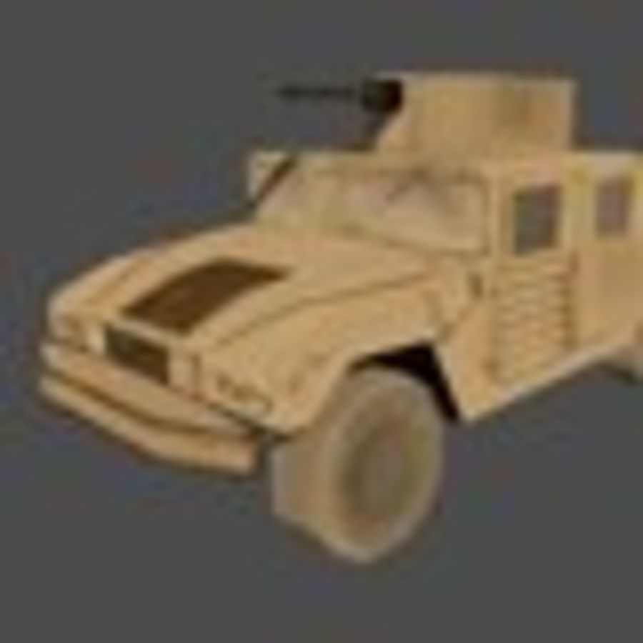 Humvee jeep lowpoly royalty-free modelo 3d - Preview no. 5