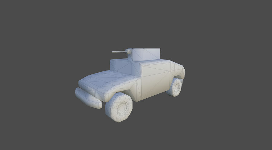 Humvee jeep lowpoly royalty-free modelo 3d - Preview no. 4