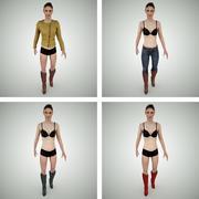 Modułowy żeński model 3D 3d model